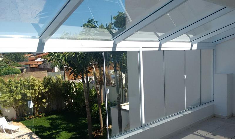 Fabuloso ESPECIAL Esquadrias de Alumínio - Pergolado e Telhado de Vidro KP23